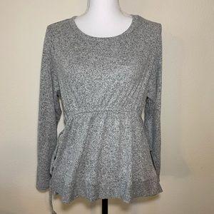 Caslon peplum cinched waist super soft sweater
